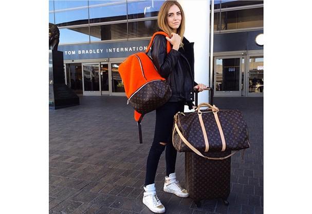 Olha que mara essa mochila da Chiara Ferragni! (Foto: Instagram)