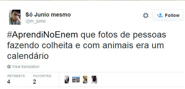 meme enem (Foto: Reprodução/Twitter)