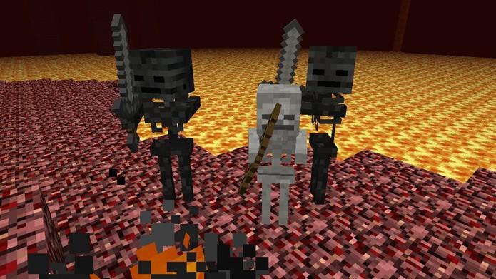 Майнкрафт как сделать скелета в броне