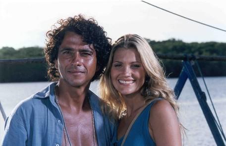 Com Marcos Palmeira na novela 'Porto dos milagres', exibida em 2001 TV Globo