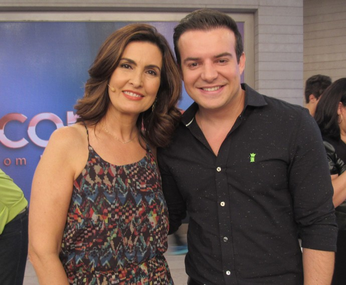 Fátima Bernardes com Belutti (Foto: Viviane Figueiredo/Gshow)