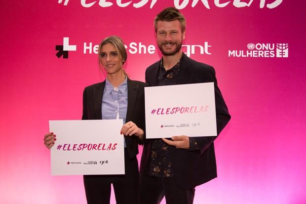 Fernanda Lima e Rodrigo Hilbert aderem  campanha 'Eles Por Elas'. (Foto: Felipe Costa)