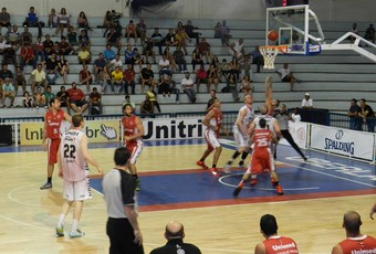 Uberlândia basquete Paulistano NBB (Foto: Caroline Aleixo)