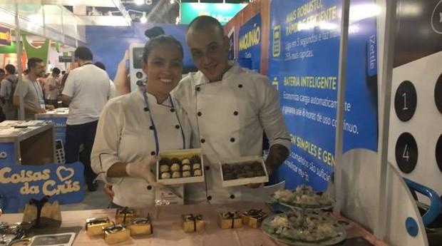 Valdirene Diniz e Rafael Rodrigues, fundadores da Sr. Brigadeiro e Sra. Beijinho  (Foto: Fabiana Pires/Editora Globo)