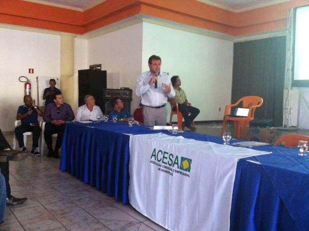 O gerente executivo da Petrobrás, Mauro Mendes, participou da audiência pública em Salinópolis (Foto: Divulgação / Petrobrás)