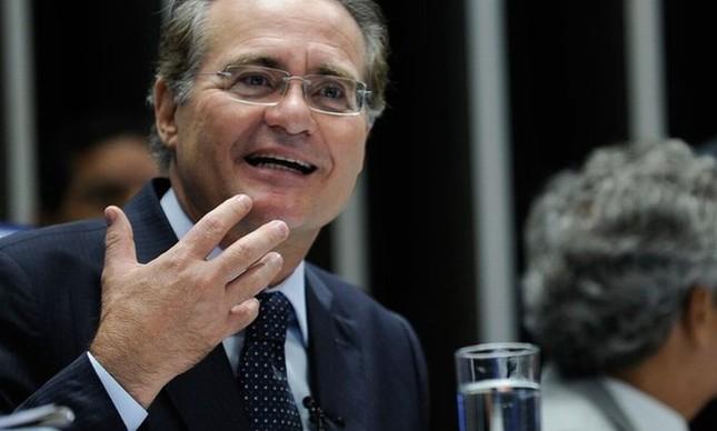 Renan Calheiros durante discurso no plenário do Senado (Foto:  Marcos Oliveira / Agência Senado)