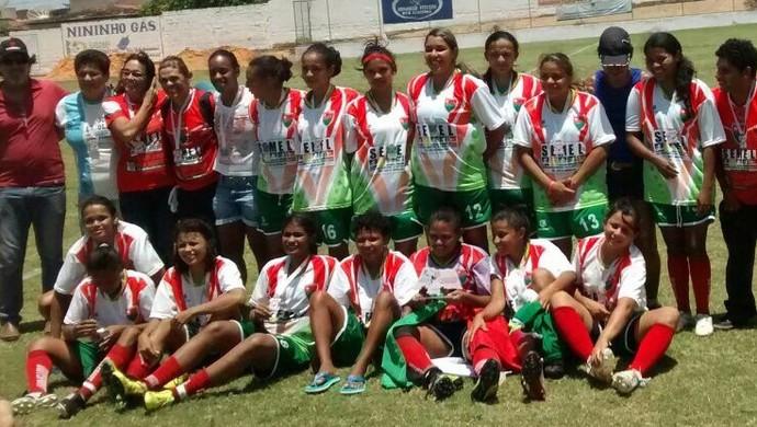 Seleção de São José do Mipibu futebol feminino (Foto: Divulgação)