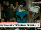Muçulmana é expulsa de comício de Trump após protesto silencioso