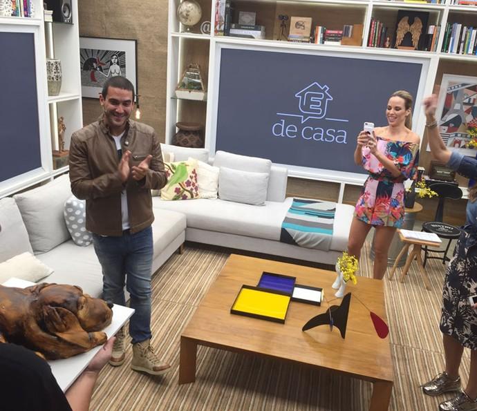 Amigos celebram aniversário de André Marques (Foto: Carolina Morgado/Gshow)