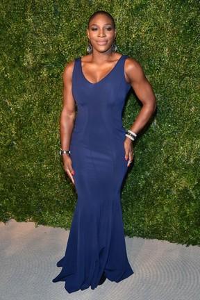 Serena Williams em evento de moda em Nova York, nos Estados Unidos (Foto: Theo Wargo/ Getty Images/ AFP)