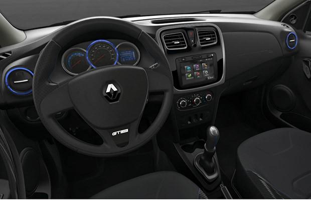 De série, o Renault Sandero GT Line vem com o MediaNav (Foto: Reprodução)