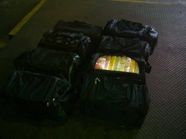 Quase quatro toneladas de cocaína foram apreendidas no Porto de Santos (Foto: Divulgação / Polícia Federal)
