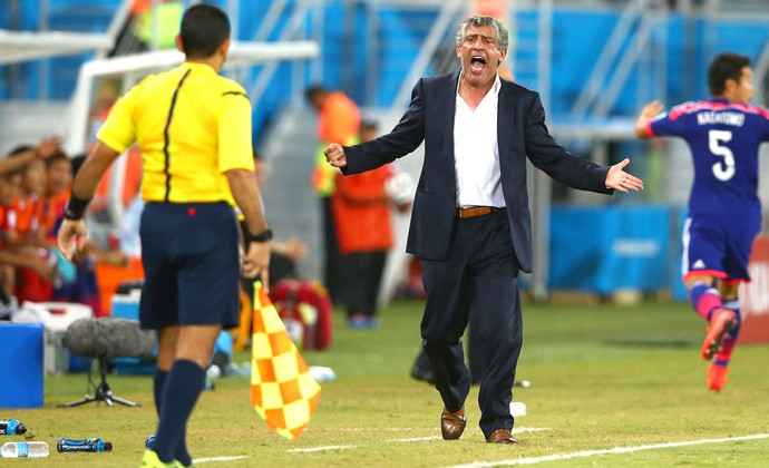 Fernando Santos técnico jogo Japão x Grécia (Foto: Getty Images)