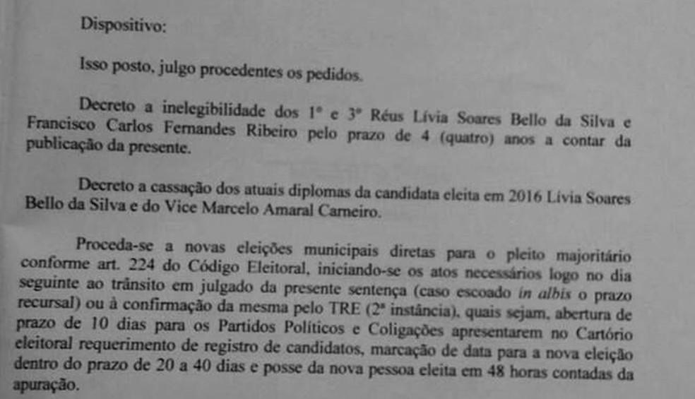Prefeita e vice-prefeito foram cassados em 1ª instância (Foto: Facebook/Reprodução)
