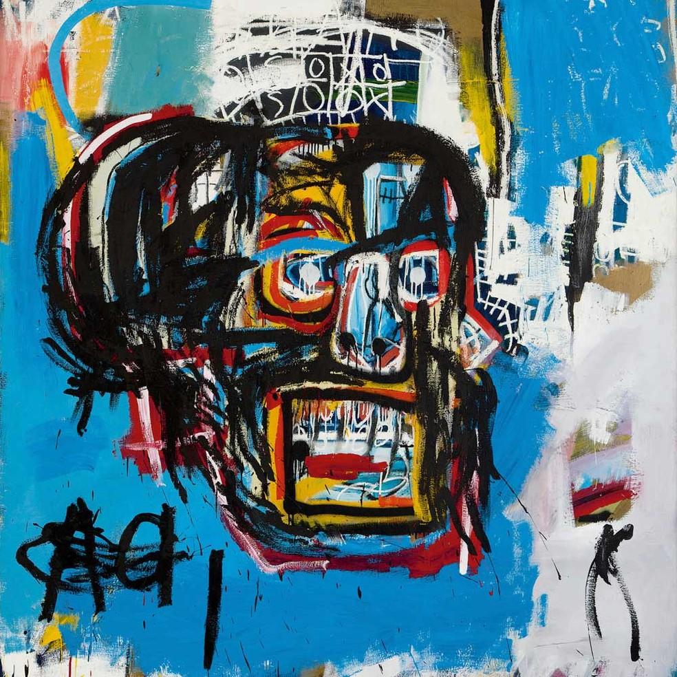 A obra do americano Jean-Michel Basquiat atingiu valor recorde (Foto: Sotheby's / via AP Photo)