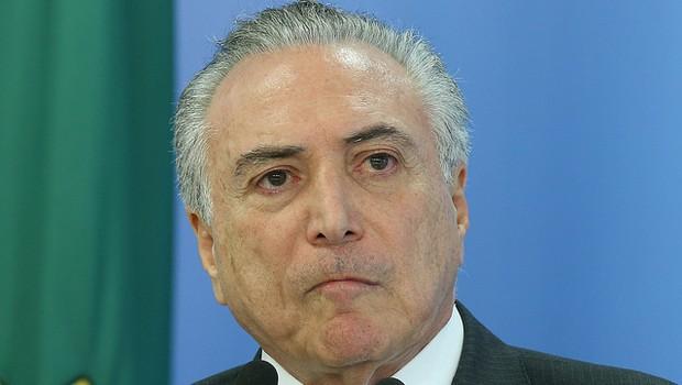 Presidente Michel Temer durante declaração à imprensa (Foto: Lula Marques/Agência PT)