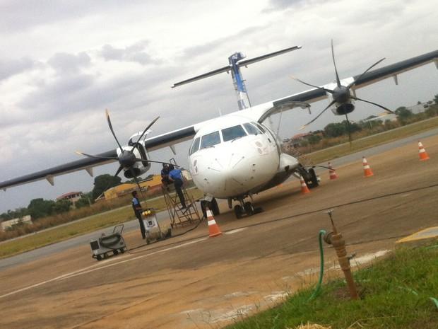 Não haverá pouso e decolagem em determinados horários para os voos 5469 e 5571 no Aeroporto Coronel Altino Machado, em Valadares. (Foto: Diego Souza/G1)