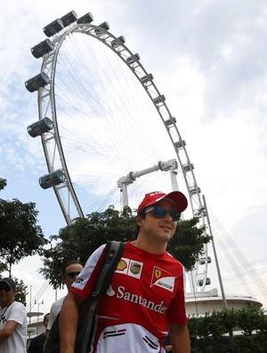 Felipe Massa em Cingapura (Foto: AP)