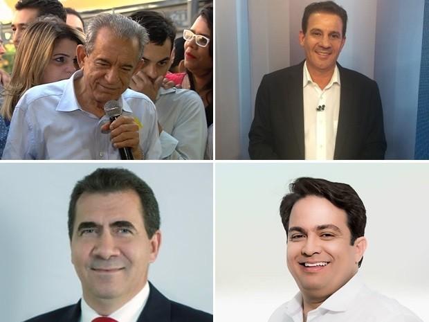 Candidatos à Prefeitura de Goiânia e à Prefeitura de Anápolis Goiás (Foto: Divulgação)