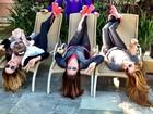 Ticiane Pinheiro se diverte com as irmãs: 'Amo demais'