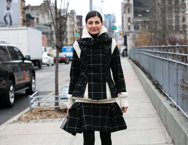 Street style: estampas gráficas ou lúdicas no penúltimo dia da NYFW  (Foto: Divulgação)