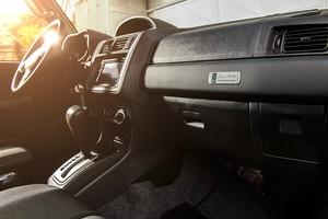 Detalhe do interior da Mitsubishi Pajero TR4 O'Neill (Foto: Divulgação)