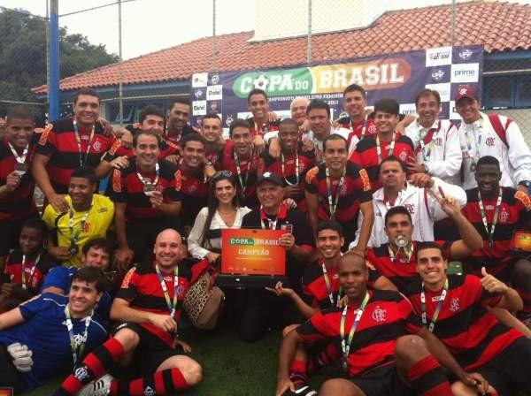 Flamengo conquistou a Copa do Brasil de Futebol de 7 (Foto: Divulgação)