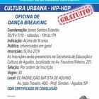 Oficina de dança de breaking abre inscrições