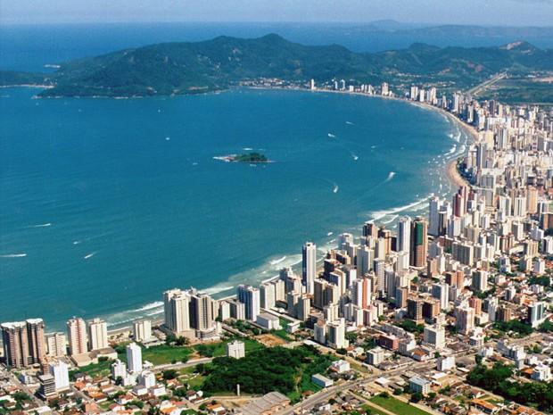 Vista da Praia Central de Balneário Camboriú (Foto: PMBC/Divulgação)