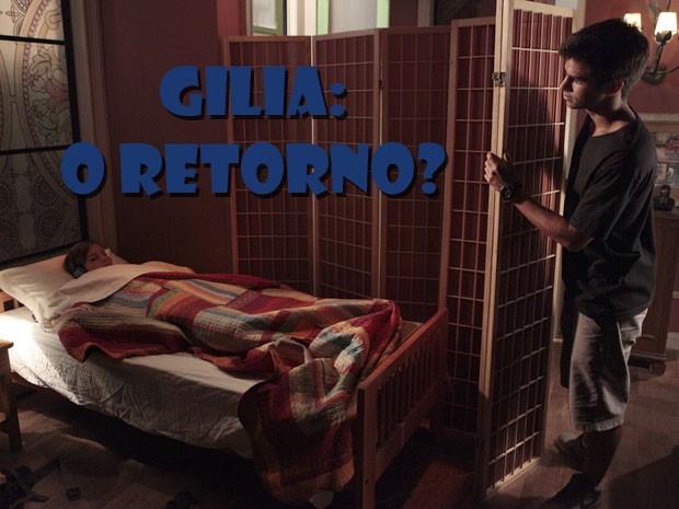 Ihhhhhh...será que vai rolar revival? Olha a carinha do Gil vendo a Lia mimir... (Foto: Malhação / Tv Globo)