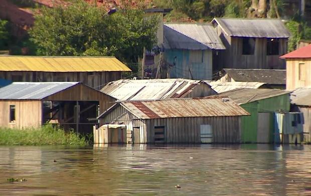 Cheia dos rios pode causar estragos  (Foto: Rede Amazônica)