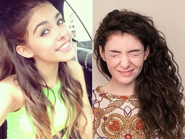 As cantoras Madison Beer, de 14 anos, e Lorde, de 16 (Foto: Divulgação)