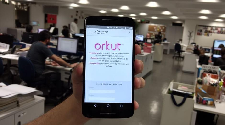 orkut, celular, falso, site falso, vírus, aplicativo, tecnologia (Foto: Vitória Batistoti)