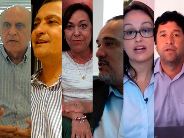 Candidatos ao governo da Bahia (Foto: Arte/G1)