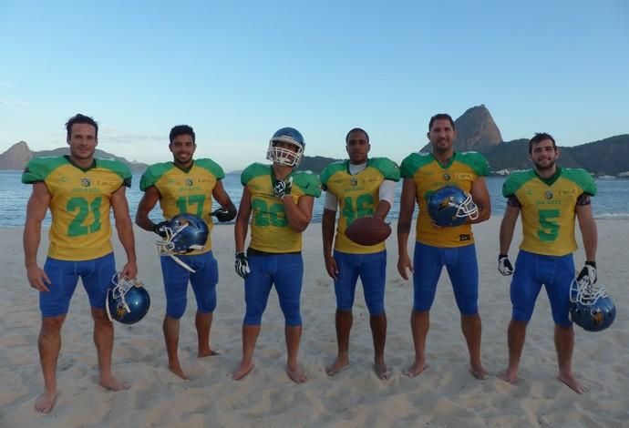 Seleção brasileira de futebol americano treino no Rio de Janeiro (Foto: Carol Fontes)