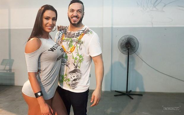 Making of Gracyanne Barbosa e Giovanna para o Paparazzo (Foto: Anderson Barros / Egov)