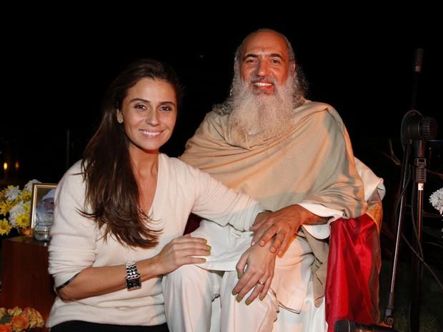 Giovanna Antonelli e Prem Baba (Foto: Felipe Panfili/AG.News)