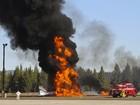 Queda de pequeno avião fere piloto na Califórnia