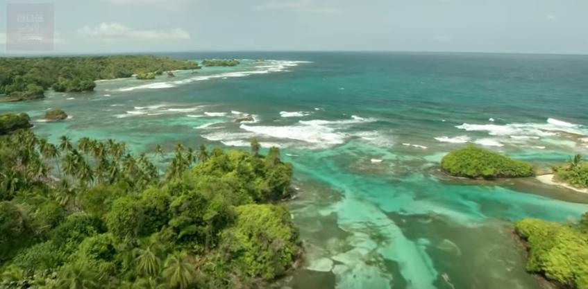 Captura do vídeo da BBC sobre ilhas (Foto: Reprodução/ Youtube)