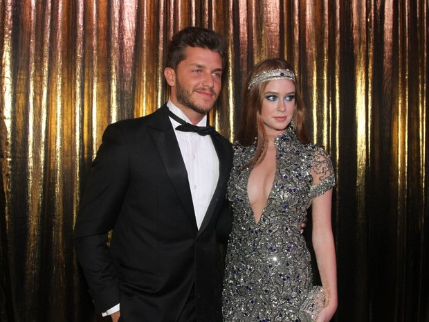 Klabber Toledo e Marina Ruy Barbosa no Baile de Gala da Vogue (Foto: Thiago Duran e Leo Franco / AgNews)