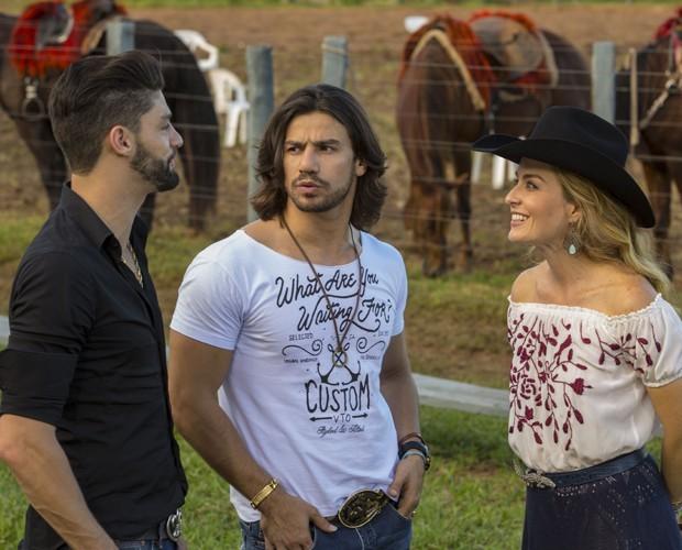 Angélica entrevista Munhoz e Mariano. (Foto: Gabriel Nascimento/Gshow)