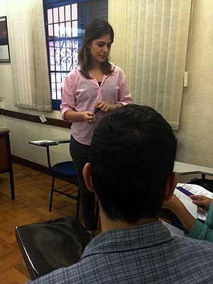 Unidade da Aliança Francesa em Campinas (SP) dá aulas para alunos com objetivo de imigrar para província do Québec, no Canadá (Foto: Isabela Leite/G1 Campinas)