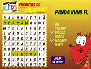 Caça Palavras Kung Fu Panda