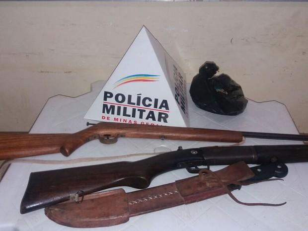 arma  (Foto: Polícia Militar/ Divulgação)