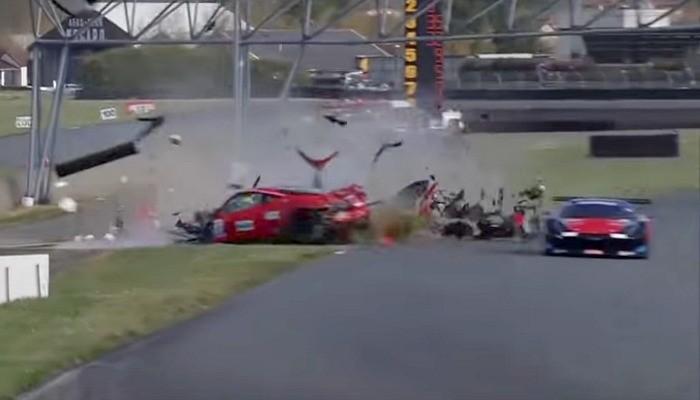 Acidente Ferrari França GT3