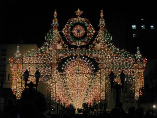 Segundo o criador, 50 mil lâmpadas compõem a estrutura (Foto: Samuel Nunes/G1)