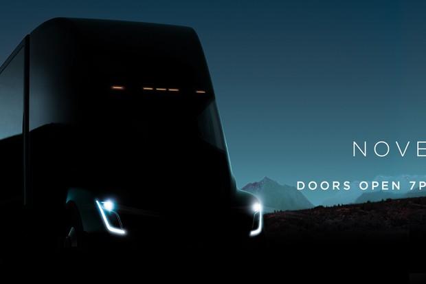 Caminhão da Tesla aparece um pouquinho no convite de lançamento (Foto: Divulgação)