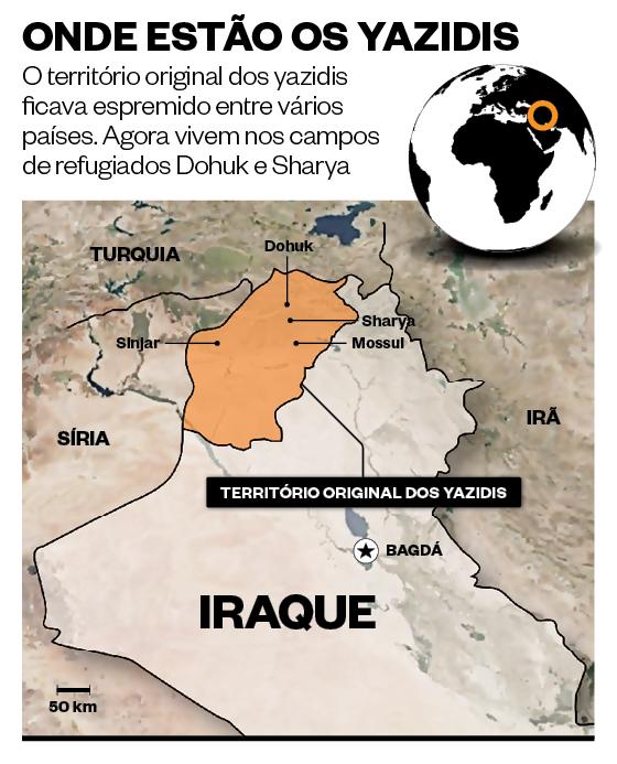 Onde estão os yazidis (Foto: Época)