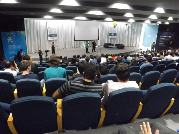 Evento sobre empreendedorismo tecnológico foi realizado nesta sexta-feira (1º), em Sorocaba (Foto: Luana Eid/G1)