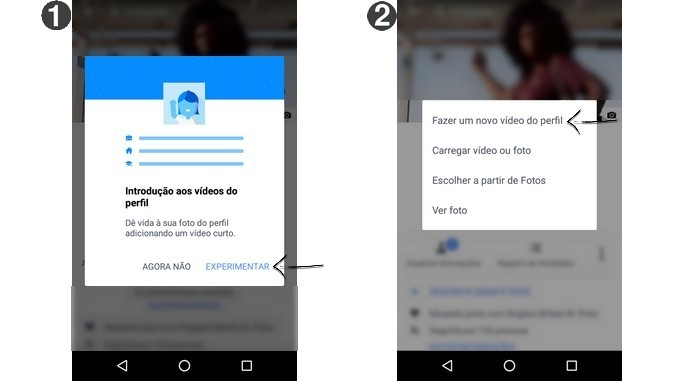 Aparência de mensagens para fazer vídeo de perfil do Facebook (Foto: Reprodução/Raquel Freire)